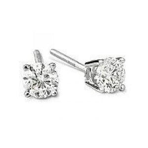 Round Diamond Studs Earring 3 Ct. White Gold Jewelry Stud Earrings