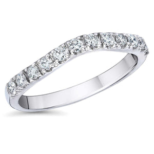 Round Diamond Wedding Band Ring White Gold 14K 2.40 Ct. Band