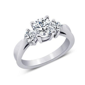 Round Diamonds 1.25 Carat Engagement Anniversary Ring Three Stone Three Stone Ring