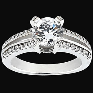 Round Diamonds 1.46 Carat Engagement Engagement Mountings Ring Jewelry White Gold Engagement Ring
