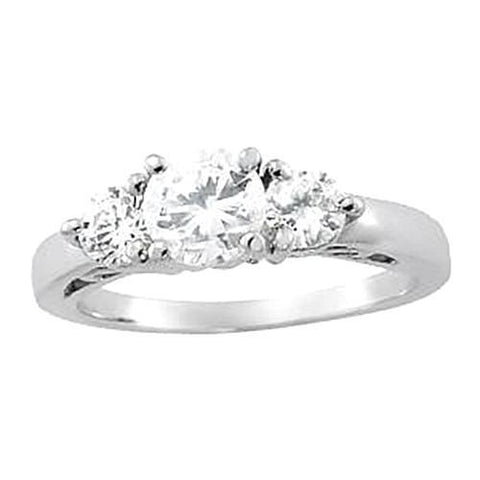 Si1-Si2 Approx. 0.74 Carat Diamond Ring White Gold 14K Ring