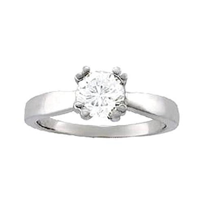 Si1-Si2 Approx. 1.00 Carat Diamond Ring White Gold 14K Ring