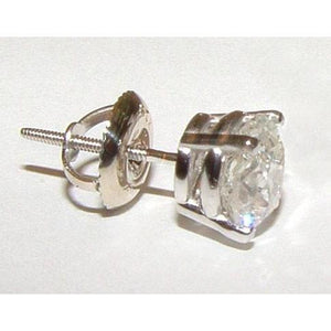 Single 1.50 Carat Diamond Stud Men Earring Gold White Single Stud