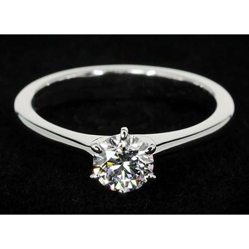 Six Prong Solitaire Round Diamond Promise Ring 1 Carat Solitaire Ring