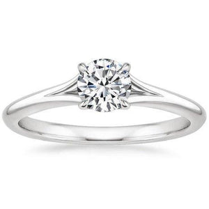 Solitaire  0.75 Carat Brilliant Cut Diamond Engagement Ring Gold 14K New Solitaire Ring