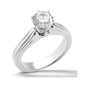 Solitaire 0.75 Carats Round Cut Diamond Solid Gold Ring Jewelry Solitaire Ring
