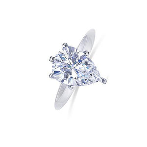 Solitaire 14K White Gold 1.5 Carat Pear Cut Diamond G Vs1 Engagement Ring Solitaire Ring