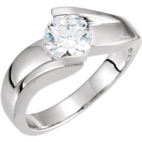Solitaire Diamond Engagement Ring White Gold 14K Size 7 Solitaire Ring