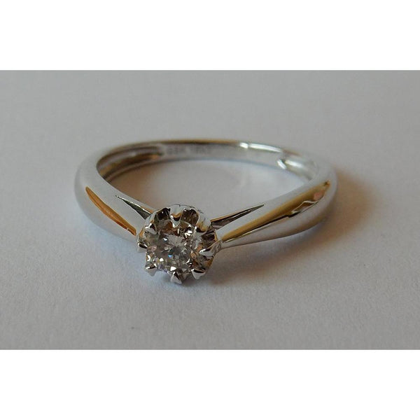 Solitaire Diamond Ring 0.25 Carats White Gold 14K Solitaire Ring