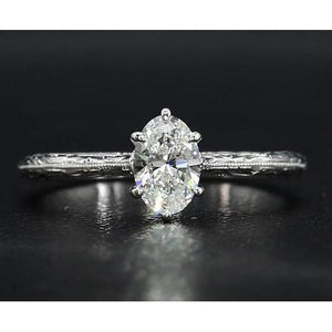 Solitaire Diamond Ring 1.50 Carats Vintage Jewelry Solitaire Ring