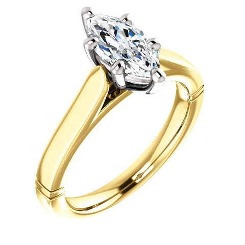 Solitaire Diamond Ring 3 Carats Split Shank Jewelry Solitaire Ring
