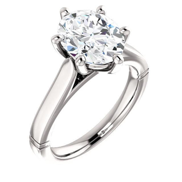 Solitaire Diamond Ring 3.50 Carats Jewelry New Solitaire Ring