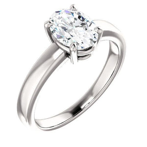 Solitaire Diamond Ring 3.50 Carats Prong Setting Jewelry Solitaire Ring