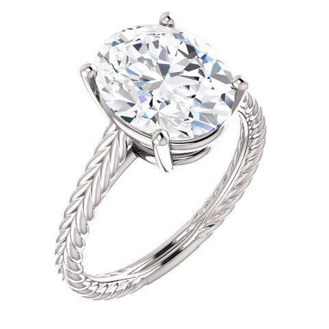 Solitaire Diamond Ring 4 Carats Filigree Women Jewelry Solitaire Ring