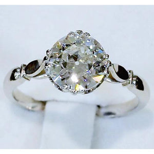 Solitaire Diamond Ring Engagement Old Miner 2.50 Carats Women Jewelry 14K Solitaire Ring