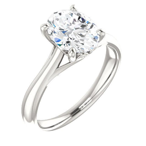 Solitaire Diamond Ring Split Shank 4 Carats Women Jewelry Solitaire Ring