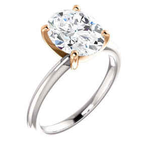 Solitaire Diamond Ring Two Tone 5 Carats Women Jewelry Solitaire Ring