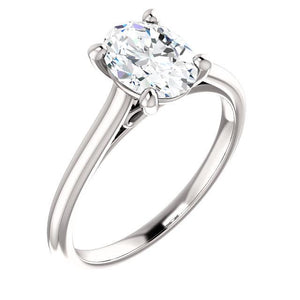 Solitaire Engagement Ring 2.50 Carats Filigree White Gold Solitaire Ring