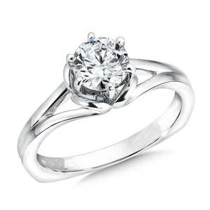 Solitaire F Vs1 Round 1.75 Carat Diamond Engagement Ring Gold White Solitaire Ring