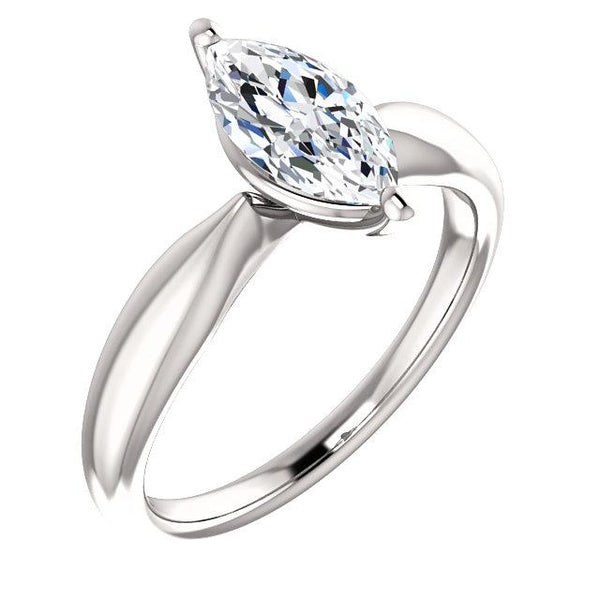 Solitaire Marquise Diamond Ring 2.50 Carats Solitaire Ring