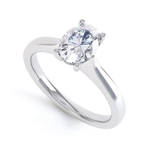 Solitaire Oval Cut 2 Ct Sparkling Diamond Engagement Solitaire Ring White Gold Solitaire Ring