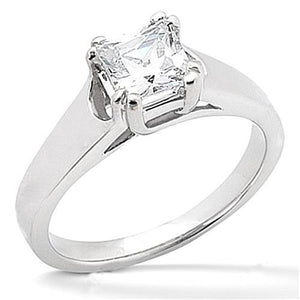 Solitaire Princess Cut Diamond Engagement Ring White Gold 0.75 Carats Solitaire Ring