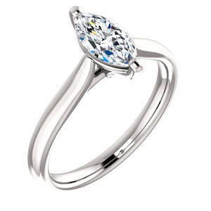 Solitaire Ring 2 Carats Marquise Split Shank Jewelry New Solitaire Ring