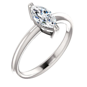 Solitaire Ring 2 Carats White Gold 14K Solitaire Ring