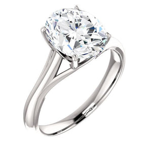 Solitaire Ring 5 Carats Trellis Setting White Gold Jewelry Solitaire Ring