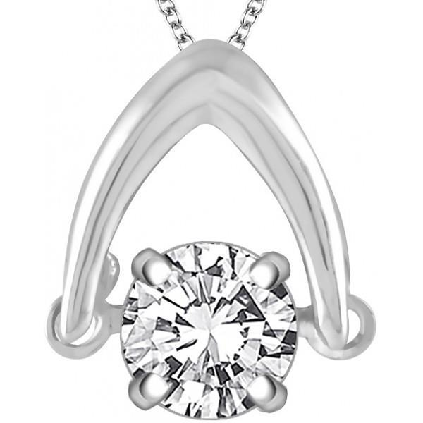 Solitaire Round Brilliant Cut 2.75 Ct Diamond Pendant Necklace Pendant