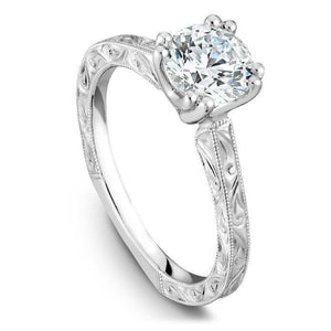 Solitaire Round Cut 2 Carat Diamond Engagement Ring White Gold 14K Solitaire Ring