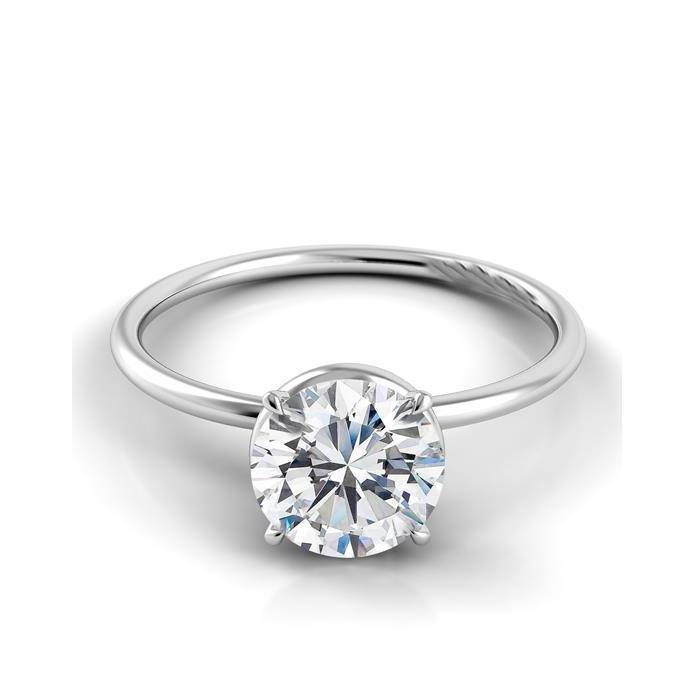Solitaire Round Cut 2.5 Carat Diamond Anniversary Ring White Gold 14K Solitaire Ring