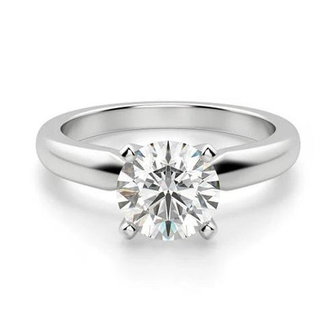 Solitaire Round Cut Diamond Wedding Ring White Gold Jewelry 1.25 Ct Solitaire Ring
