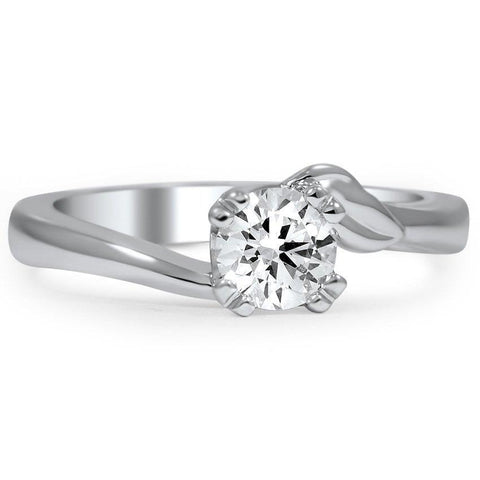 Solitaire Sparkling 1 Carat Round Cut Diamond Engagement Ring F Vs1 Solitaire Ring
