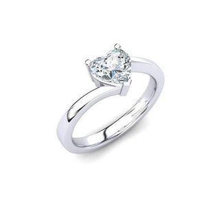 Solitaire Sparkling Heart Shape 1.75 Ct Diamond Wedding Ring Solitaire Ring
