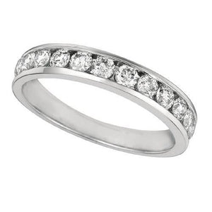 Sparkling 0.75 Carat Round Diamond Channel Setting Eternity Ring Band Solid Gold 14K New Ring