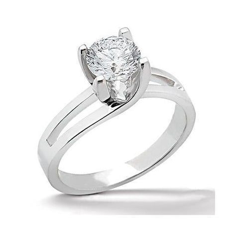 Sparkling 0.75 Carat Solitaire Diamond Engagement Ring White Gold 14K Solitaire Ring