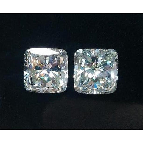 Sparkling 2.02 Carats Cushion Loose Diamond Pair Diamond