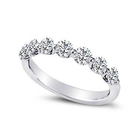 Sparkling 2.10 Carats Round Diamonds Engagement Band White Gold 14K New Band