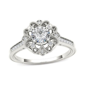 Sparkling 3.25 Ct. Diamonds Antique Style Wedding Ring Gold White Anniversary Ring