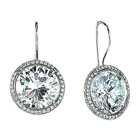 Sparkling 4.50 Carats Diamond Dangle Earrings Pair White Gold New Dangle Earrings