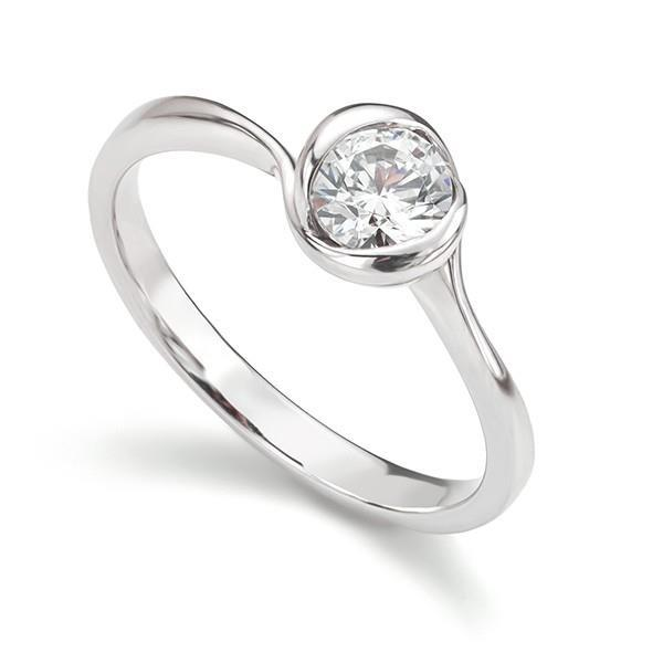 Sparkling Brilliant Cut Bezel Set 1.25 Ct Diamond Anniversary Solitaire Ring Solitaire Ring