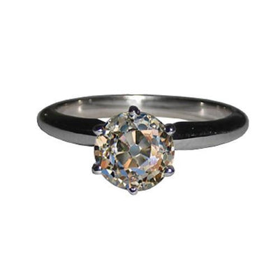 Sparkling Diamond Solitaire White Gold 2.51 Cts. New Solitaire Ring