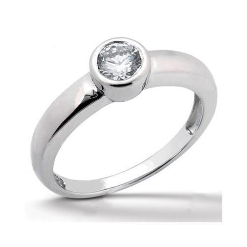 Sparkling Diamonds 1 Carat Anniversary Ring White Gold Solitaire Ring