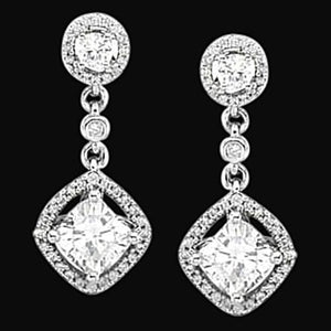 Sparkling Diamonds Chandelier Earrings 3.50 Carat Diamond Earring Chandelier Earring