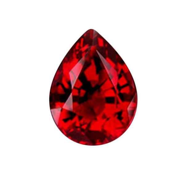 Sparkling Loose Ruby 3.5 Carat Si Pear Cut Red Ruby Gemstone Loose
