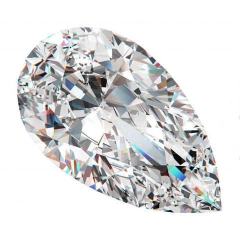 Sparkling Natural 3 Carats Pear Cut G Si1 Loose Diamond Diamond