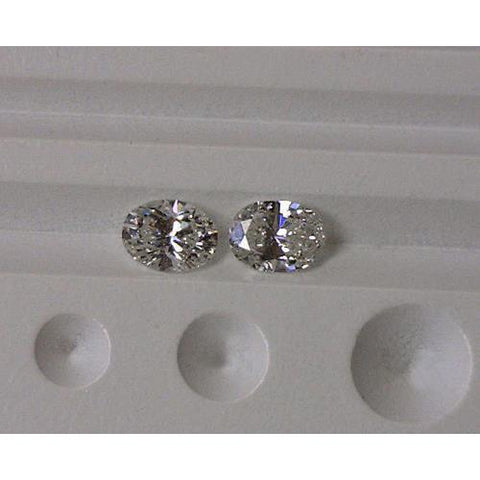 Sparkling Oval Diamond Pair Loose Diamond F Vs1 2 Carat Diamond