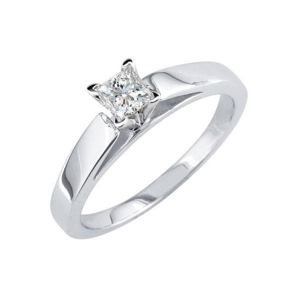 Sparkling Princess Cut 1.10 Ct Diamond Engagement Solitaire Ring White Gold 14K Solitaire Ring