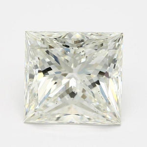 Sparkling Princess Cut 3.50 Carat G Si Loose Diamond New Diamond